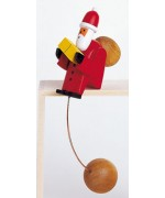 TEMPORARILY OUT OF STOCK - Wolfgang Werner Toy Swinging Santa Claus Small