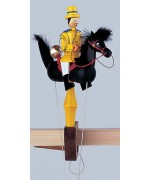TEMPORARILY OUT OF STOCK - Wolfgang Werner Toy Pendelreiter Yellow Postman