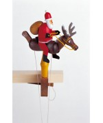 TEMPORARILY OUT OF STOCK - Wolfgang Werner Toy Santa Claus with Reindeer