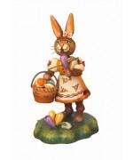 Hasenmutter mit Krokus Original HUBRIG Wooden Figuren