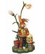 Hasenmax der Farbenkunstler Original HUBRIG Wooden Figuren