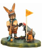 TEMPORARILY OUT OF STOCK - 'Pinselgolf mit Stummelchen' Original HUBRIG Wooden Figuren