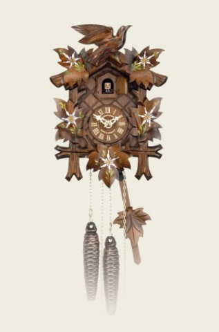 Hubert Herr Cuckoo-Clock Edelweiss - TEMPORARILY OUT OF STOCK