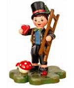 Schornsteinfeger Glueckskind' Original HUBRIG Wooden Figuren
