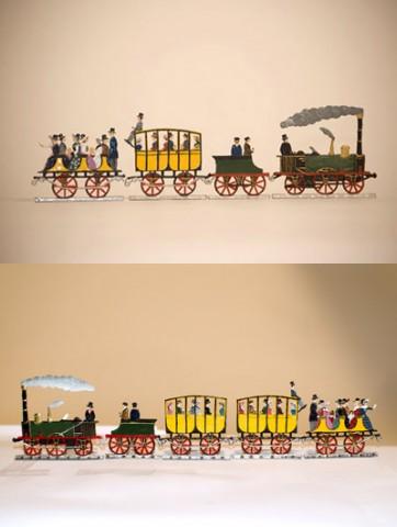 First German Train ADLER EAGLE Standing Pewter Wilhelm Schweizer