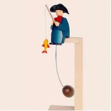 TEMPORARILY OUT OF STOCK - Wolfgang Werner Toy Swinging Angler with Fish