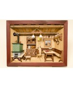 TEMPORARILY OUT OF STOCK German wooden 3D-picture box-Diorama Painted