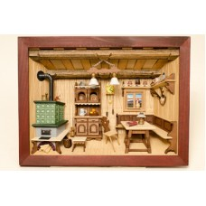 German wooden 3D-picture box-Diorama Painted  TEMPORARILY OUT OF STOCK