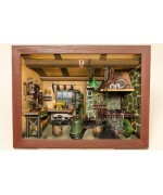 TEMPORARILY OUT OF STOCK - German wooden 3D-picture box-Diorama Schmiede Painted