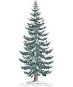 Winter Tree Standing Pewter Wilhelm Schweizer