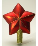 Mouth Blown Glass Glass Ornament 'Red Star'