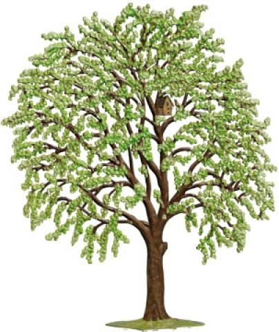 Tree Spring Standing Pewter Wilhelm Schweizer
