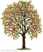 Fall Tree Standing Pewter Wilhelm Schweizer