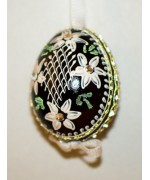 TEMPORARILY OUT OF STOCK - EDELWEISS Peter Priess of Salzburg Hand Painted Easter Egg