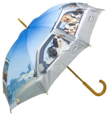 "Motif Umbrella  ""Dogs on Tour"""