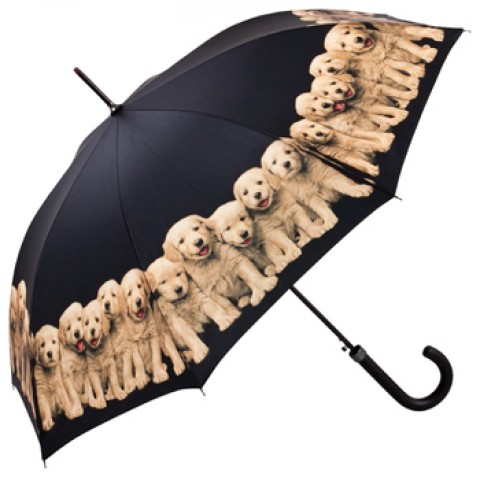 """Motif Umbrella """"Puppies"""" - TEMPORARILY OUT OF STOCK"""
