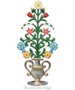 Wilhelm Schweizer Standing Pewter Flower Arrangement