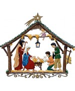 TEMPORARILY OUT OF STOCK - Wand-Bauernkrippe Christmas Pewter Wilhelm Schweizer