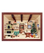 TEMPORARILY OUT OF STOCK German wooden 3D Picture Box Diorama Christmas Farm Kitchen Painted