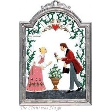 Bride and Groom Window Wall Hanging Wilhelm Schweizer