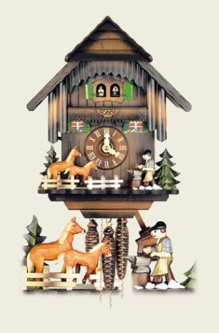Hubert Herr Cuckoo-Clock Pferde Schmied -  horses blacksmith - MD