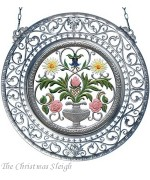 Flower Motif Window Wall Hanging Wilhelm Schweizer