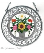 Flower Basket  Window Wall Hanging  Wilhelm Schweizer