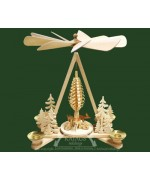 TEMPORARILY OUT OF STOCK <BR><BR> 'Deer in Forest' Pyramid RATAGS HOLZDESIGN