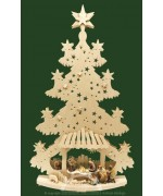 TEMPORARILY OUT OF STOCK Christmas Tree with Carved Creche Scene Schwib Arches RATAGS