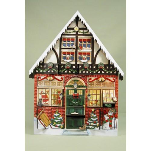 Byers Choice Advent Calendar Christmas House