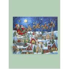 Byers Choice Advent Calendar Santa's Sleigh - TEMPORARILY OUT OF STOCK