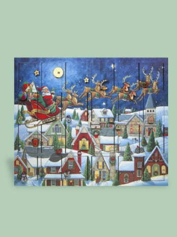 Byers Choice Advent Calendar Santa's Sleigh - TEMPORARILY OUT OF STOCK
