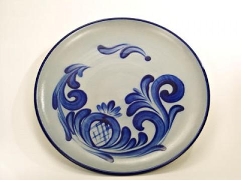 German Salt Glaze Pottery Plate/Disk
