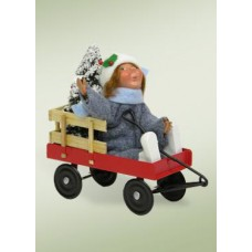 TEMPORARILY OUT OF STOCK - Byers Choice Toddler in Wagon