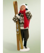 Byers Choice Woman with Skiis