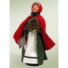 Byers Choice Williamsburg Woman with Apple Cone - TEMPORARILY OUT OF STOCK