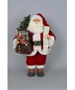 TEMPORARILY OUT OF STOCK - Karen Didion Lighted Vintage Gift Bag Santa