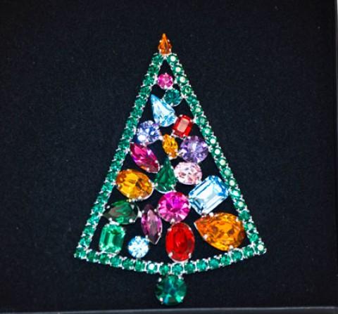 Swarovski Crystals  BROOCH