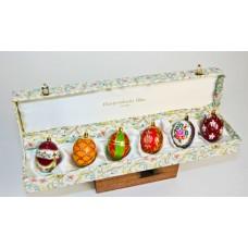 German Mouth Blown Glass Ornament Glass Eggs