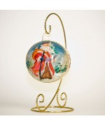 Mouth Blown Glass Ornament 'Santa'