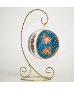 Mouth Blown Glass Ornament 'Flowers'