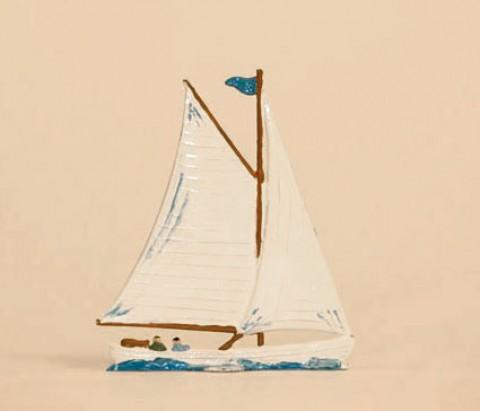 Segelboot Moewe Standing Pewter Wilhelm Schweizer