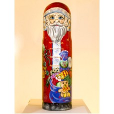 TEMPORARILY OUT OF STOCK <BR><BR> Santa with Gifts Bottle Holder G. DeBrekht