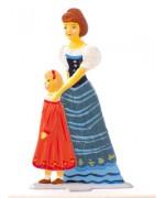 Mutter mit Kind Standing Pewter BABETTE SCHWEIZER