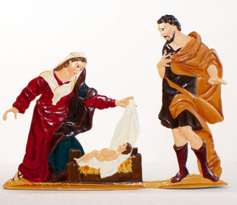 Mary and Joseph' Christmas Pewter Wilhelm Schweizer