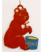 Bear with Honey Jar Hanging Ornament Wilhelm Schweizer