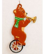 Bear Riding a Unicycle Hanging Ornament Wilhelm Schweizer