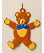 Teddy Bear with Bow Tie' Hanging Ornament Wilhelm Schweizer