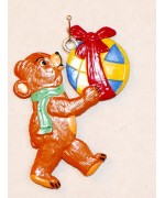 Bear Carrying a Ball Hanging Ornament Wilhelm Schweizer
