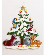 Christmas Tree with Animals Christmas Pewter Wilhelm  - TEMPORARILY OUT OF STOCK